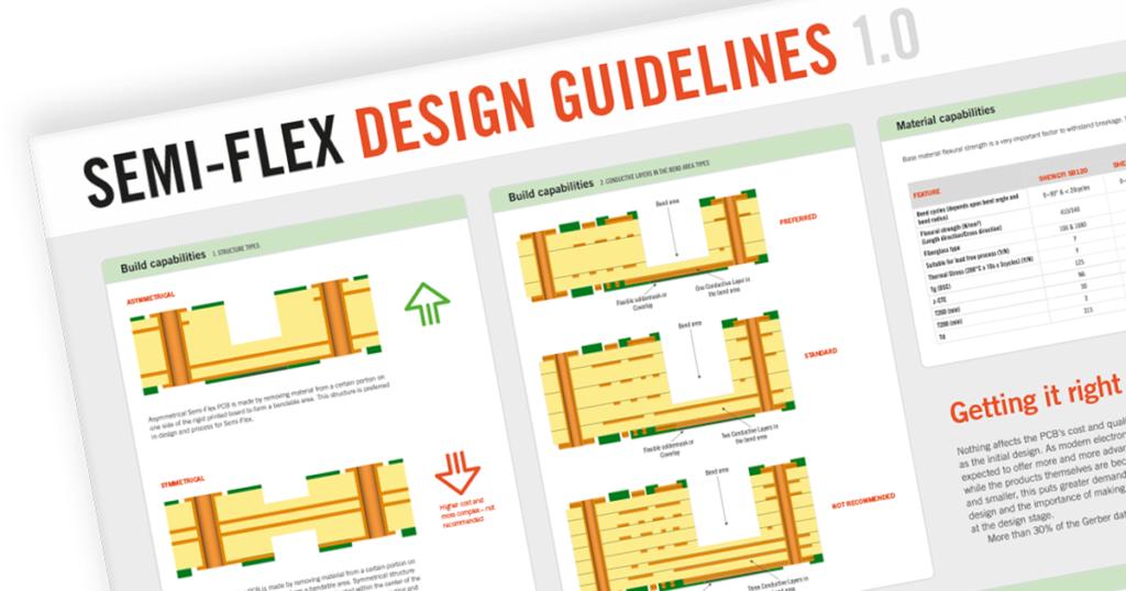 Design guidelines för semi-flexkort.