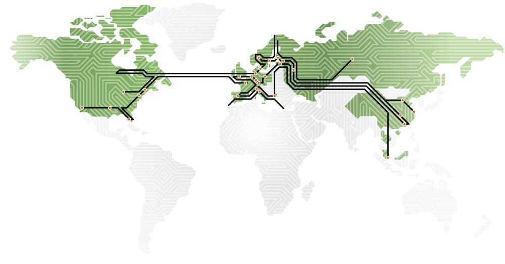 Världskarta som visar NCAB Groups alla bolag