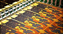 PCB being produced