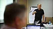 NCAB Group technician holding a seminar