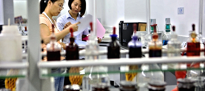 An audit in one of our factories, performed by Wendy Liu, Quality Manager NCAB Group China