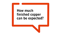 How much finished copper can be expected? - film