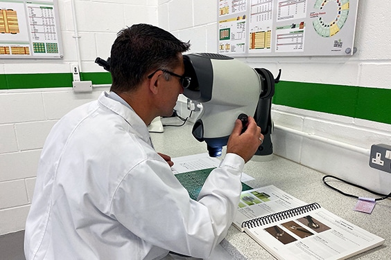 Inspection of a PCB | NCAB Group lab