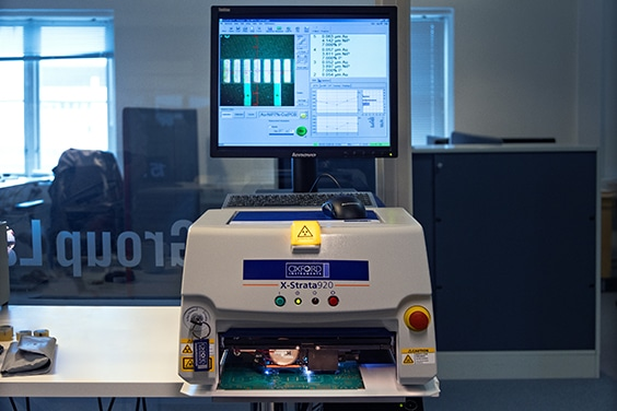 Measuring of the PCB surface finish / NCAB Group lab