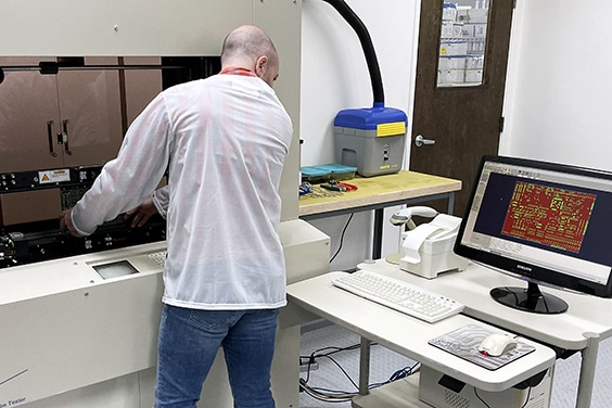 Electrical test of a sample using a flying probe tester | NCAB Group