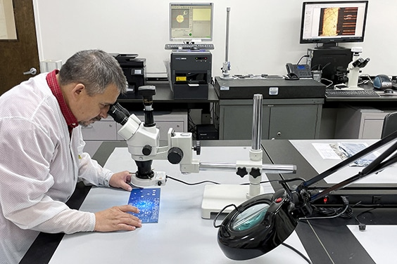 Visual inspection using a stereo microscope per IPC | NCAB Group