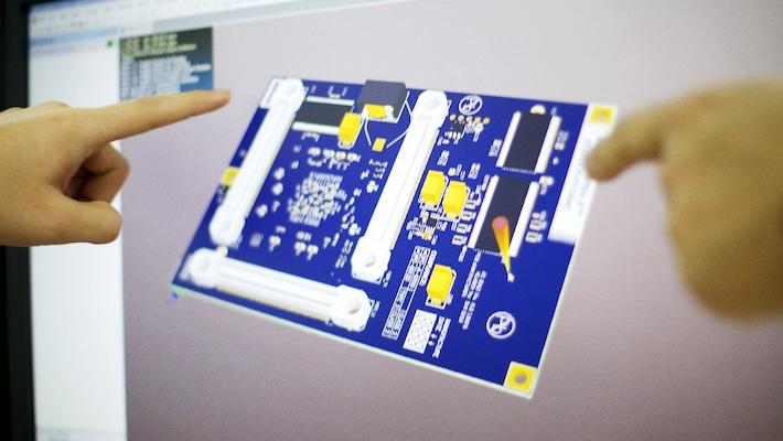 Close up of PCB design screen | NCAB